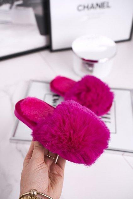 Detské šľapky farba ružová kód obuvi KL-30B FUKSJA
