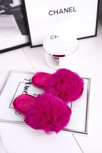 Detské šľapky farba ružová kód obuvi KL-A5 FUKSJA