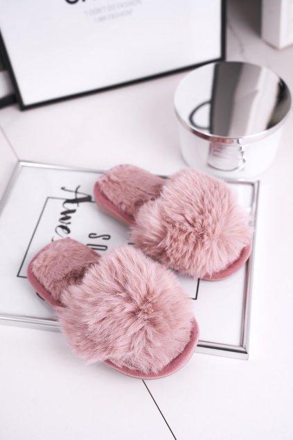 Detské šľapky farba ružová kód obuvi KL-A5 POWDER PINK