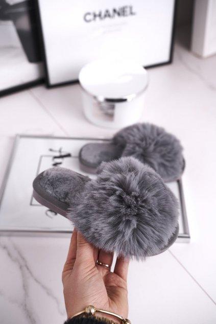 Detské šľapky farba sivá kód obuvi KL-A5 GREY