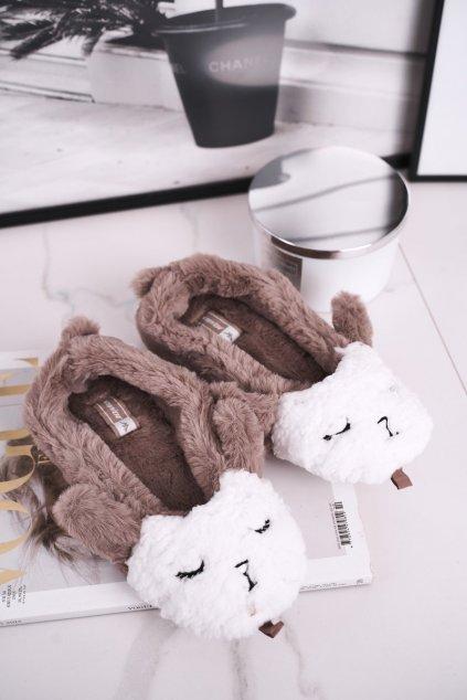 Dámske šľapky farba hnedá kód obuvi MD1246 BROWN