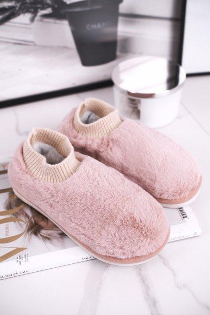 Dámske šľapky farba ružová kód obuvi E111 PINK
