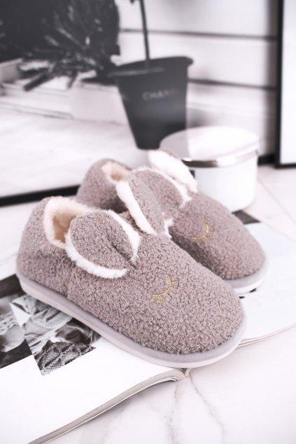 Dámske šľapky farba sivá kód obuvi E113 GREY