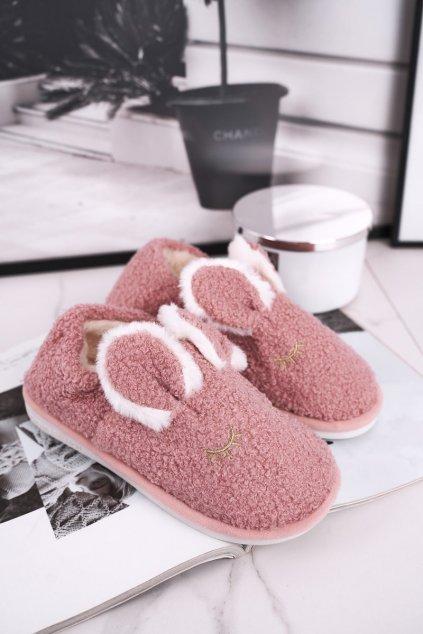 Dámske šľapky farba ružová kód obuvi E113 PINK