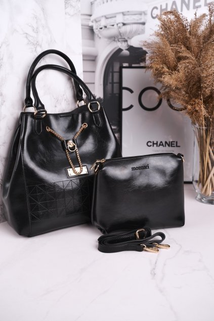Dámska kabelka čierna kód kabelky BAG5810-020CZARNY