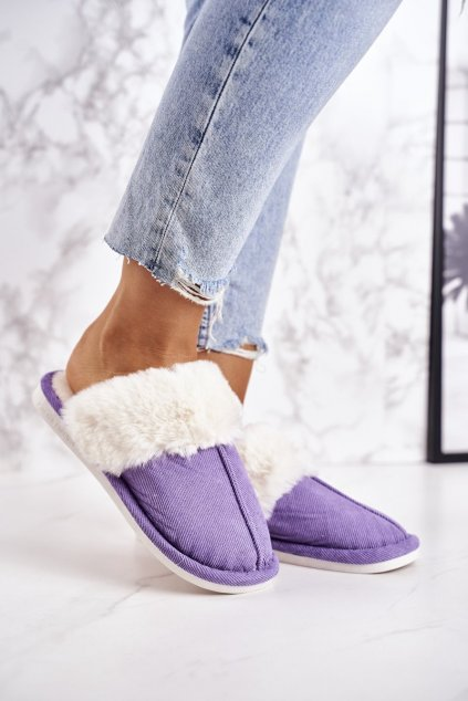 Dámske šľapky farba fialová kód obuvi E110 PURPLE