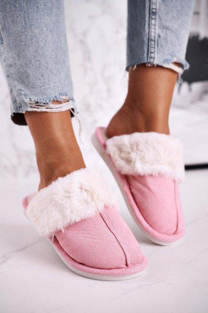 Dámske šľapky farba ružová kód obuvi E110 PINK