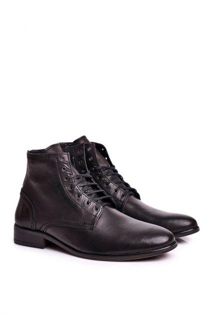 Pánske topánky na zimu farba čierna kód obuvi 287 BLK