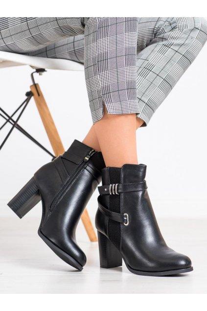 Čierne dámske topánky Queen vivi kod J76-B