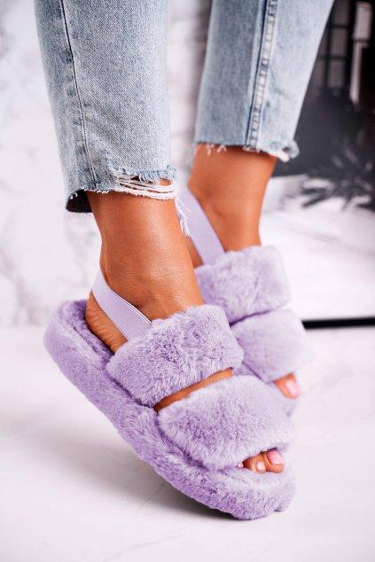 Dámske šľapky farba fialová kód obuvi W-13 PURPLE