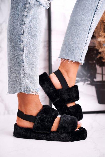 Dámske šľapky farba čierna kód obuvi W-13 BLACK