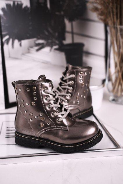 Detské členkové topánky farba sivá kód obuvi H10NW GREY