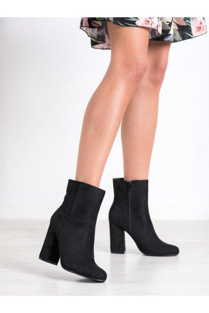 Čierne dámske topánky Shelovet kod Q1AX2101-8B
