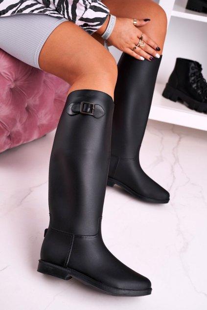Dámske gumáky farba čierna kód obuvi D60 BLK