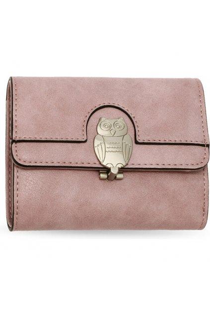 Ružová peňaženka pre ženy Flap sova AGP1102