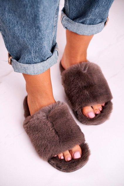 Dámske šľapky farba sivá kód obuvi 20PA36-3362 Grey