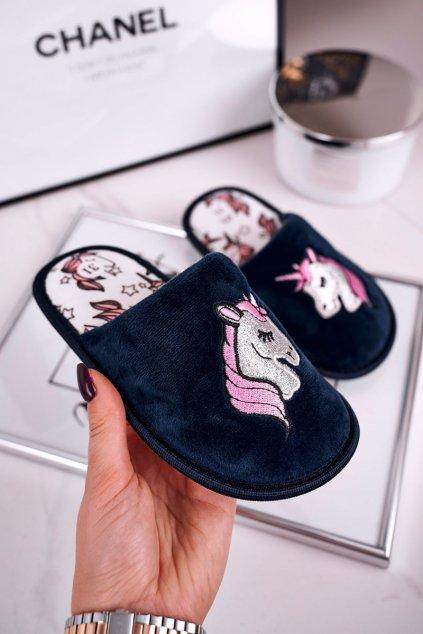 Detské šľapky farba modrá kód obuvi EVENTO 3365 NAVY