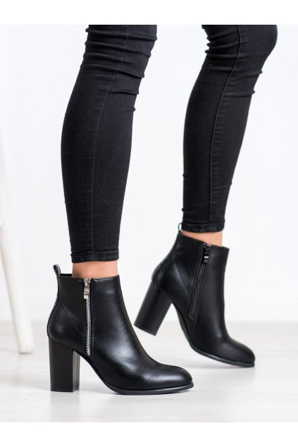 Čierne dámske topánky Cm paris NJSK 688-A21B