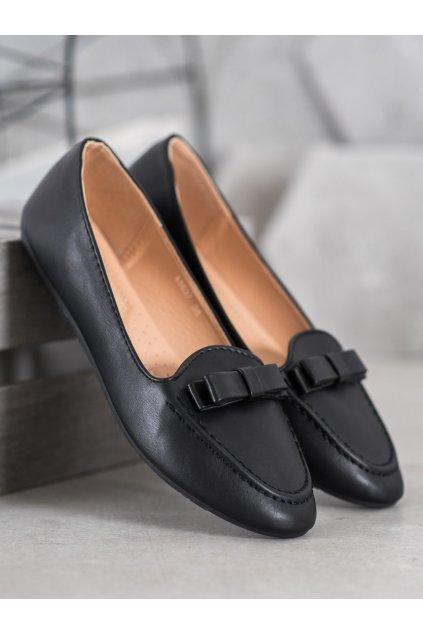 Čierne dámske balerínky Shelovet NJSK A8637B