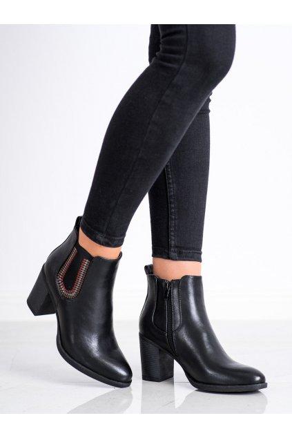 Čierne dámske topánky Goodin kod HF228B/B