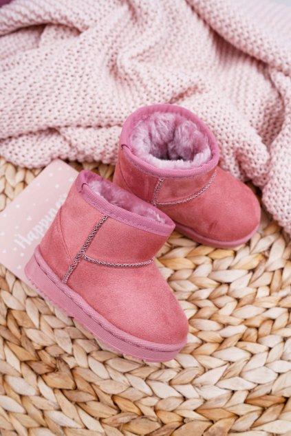 Detské snehule farba ružová NJSK 20213-1A/2A PINK