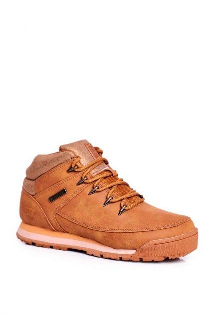 Dámske trekové topánky farba hnedá NJSK GG274497 CAMEL