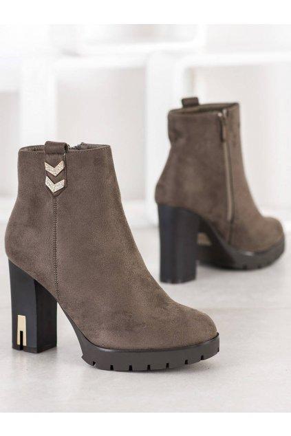 Hnedé dámske topánky Bestelle kod 168-281KH