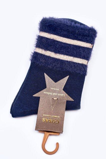 Dámske ponožky farba modrá kód LM2-14 NAVY