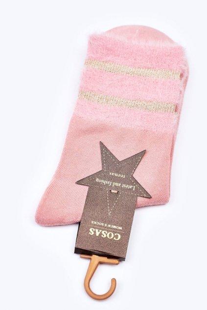 Dámske ponožky farba ružová kód LM2-14 PINK
