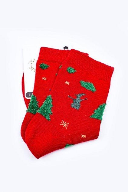 Pánske ponožky farba červená kód WJYC-94060 FOREST