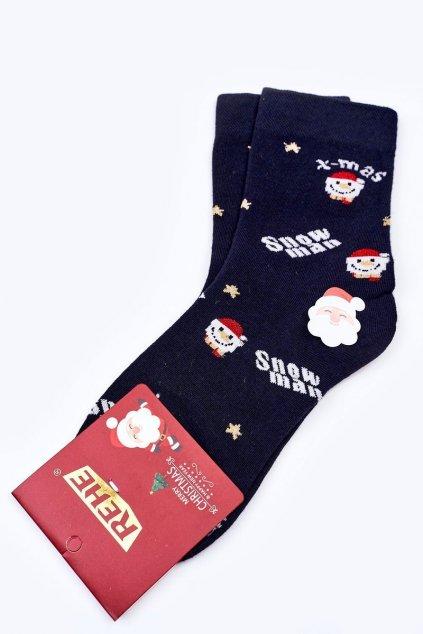 Pánske ponožky farba modrá kód HD513 SNOWMAN