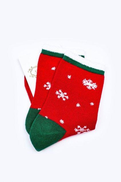 Pánske ponožky farba červená kód WJYC-94059 ŚNIEŻKI
