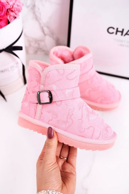 Detské snehule farba ružová kód obuvi N224/N225 PINK