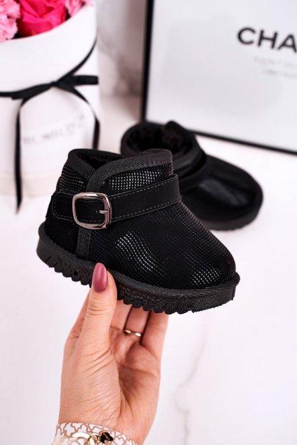 Detské snehule farba čierna kód obuvi PD162 BLACK
