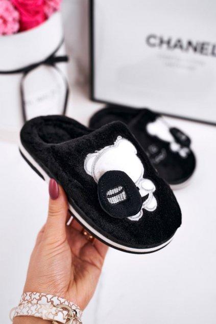 Detské šľapky farba čierna kód obuvi WG-218 BLACK