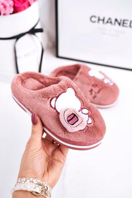 Detské šľapky farba ružová kód obuvi WG-218 POWDER PINK
