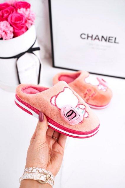 Detské šľapky farba ružová kód obuvi WG-218 BRIGHT PINK