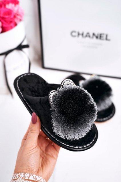 Detské šľapky farba čierna kód obuvi XC-6 BLACK