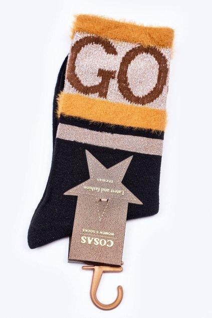 Dámske ponožky farba čierna kód LM2-10 BLACK