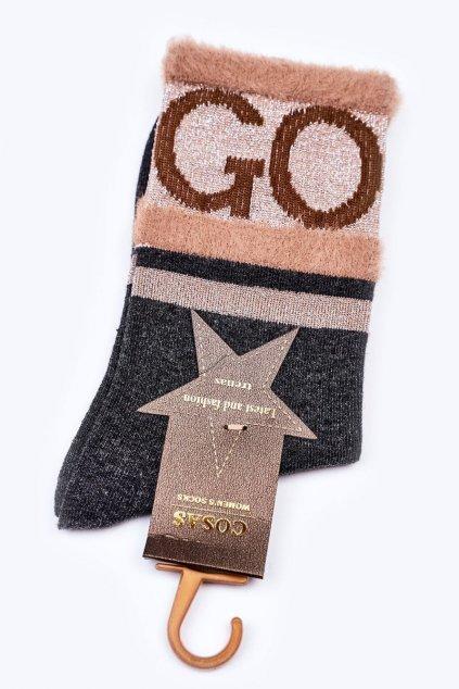 Dámske ponožky farba sivá kód LM2-10 GREY