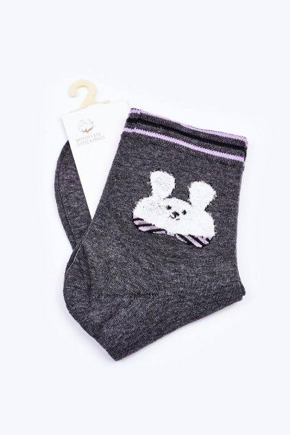 Dámske ponožky farba sivá kód LM13-6 DARK GREY