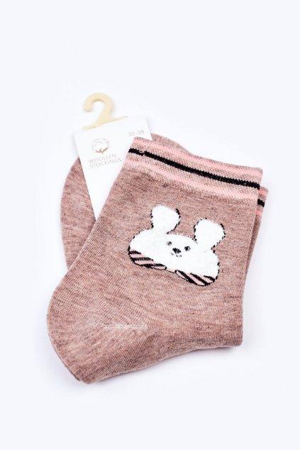 Dámske ponožky farba hnedá kód LM13-6 BEIGE