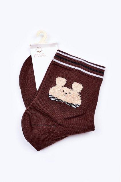 Dámske ponožky farba hnedá kód LM13-6 BROWN