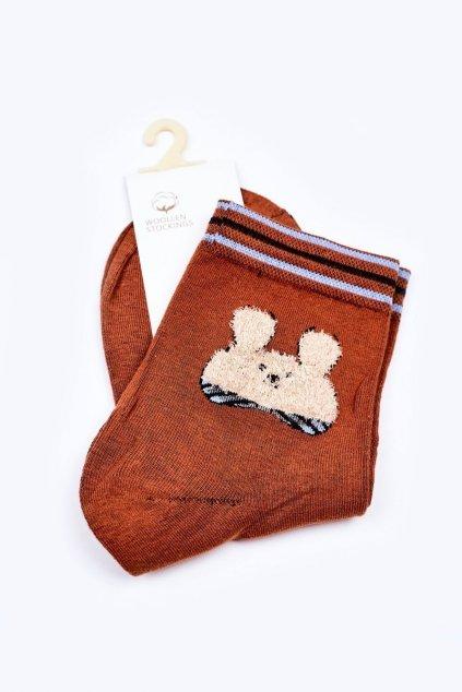 Dámske ponožky farba hnedá kód LM13-6 CARAMEL