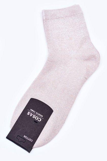 Dámske ponožky farba hnedá kód DMP308 ECRU