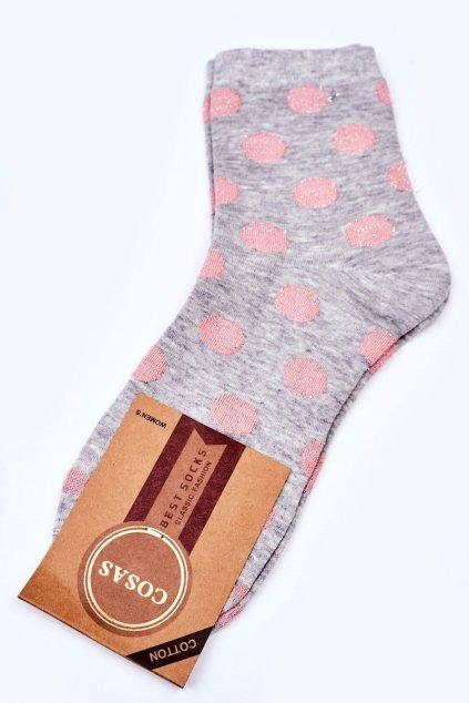 Dámske ponožky farba sivá kód DMP316 GREY
