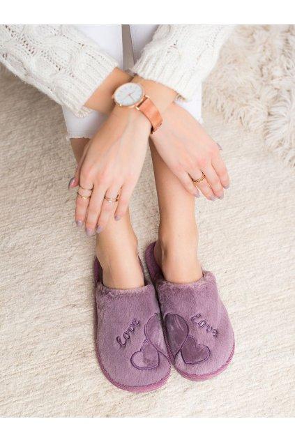 Fialové dámska obuv na doma Bona kod CJ-2PU