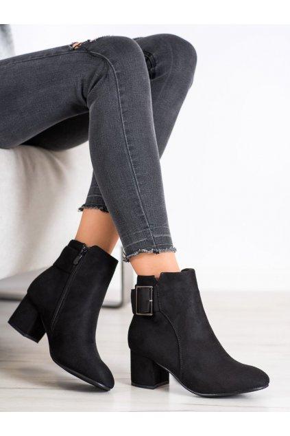 Čierne dámske topánky Top shoes NJSK R19-25B