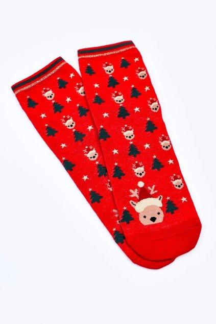 Dámske ponožky farba červená kód DM500 RENIFER