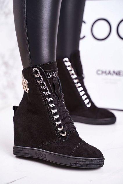 Dámske tenisky farba čierna kód obuvi 2222/066/s BLK SILVER
